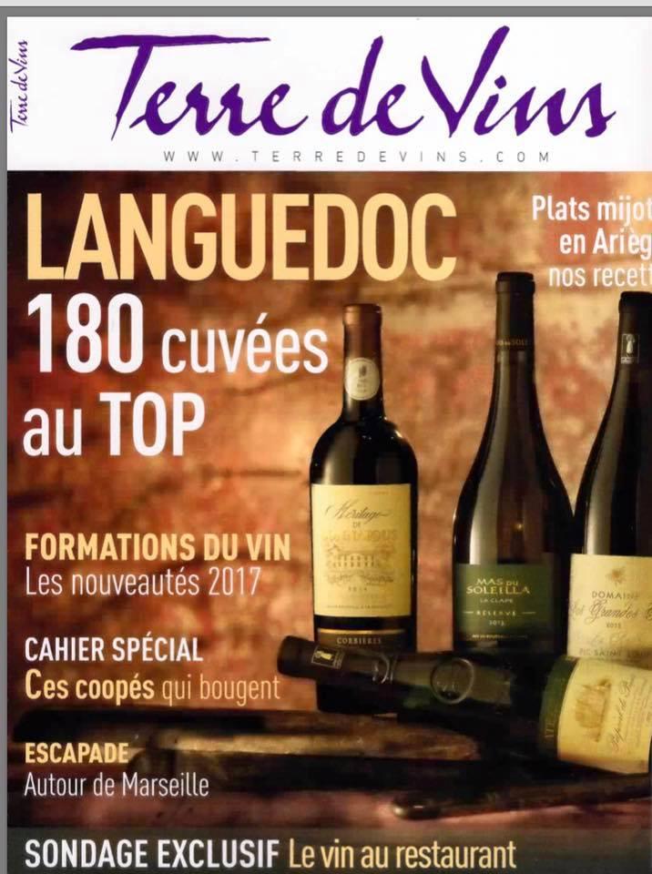 Article dans Terre de vins